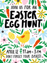 Easter Egg Hunt Invitation Or ...