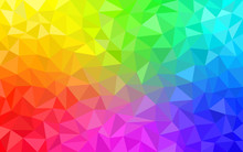 Multicolor Rainbow Low Poly Ba...