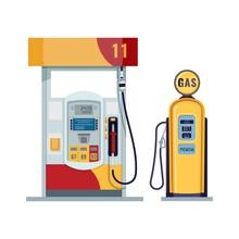 Gas Or Petrol Station. Gasolin...