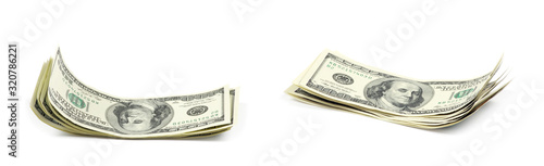 money isolated on a white Canvas Print