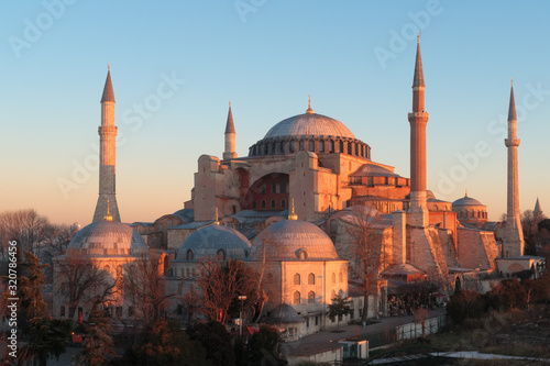 Istanbul, Turkey - Jan 11, 2020: Turkey Istanbul Elevated view of the Hagia Soph Canvas Print
