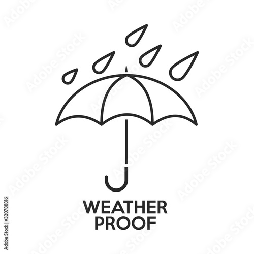 Weather Proof icon Fototapet