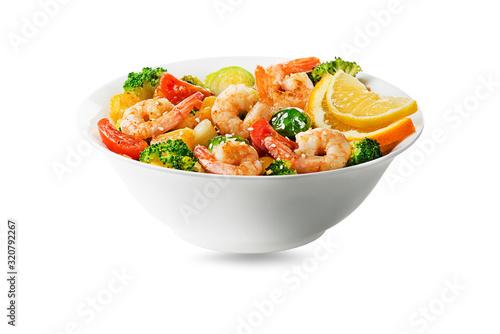 Photo Salad shrimp meal