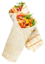 Tortilla Wrap With Fried Chick...