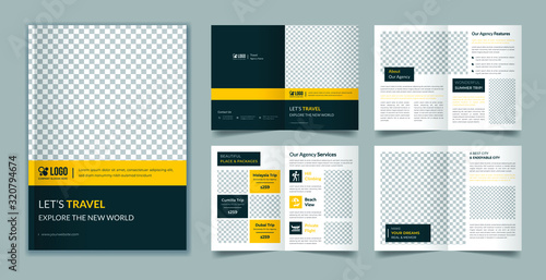 Fototapeta Travel 8 page brochure template obraz