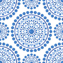 Ornamental Mandala Decoration Pattern - Seamless Background