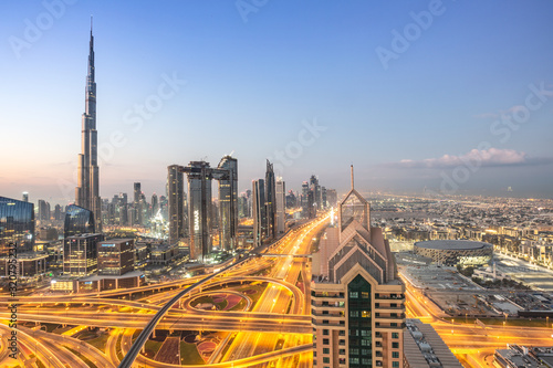 Traffic in Dubai Canvas Print