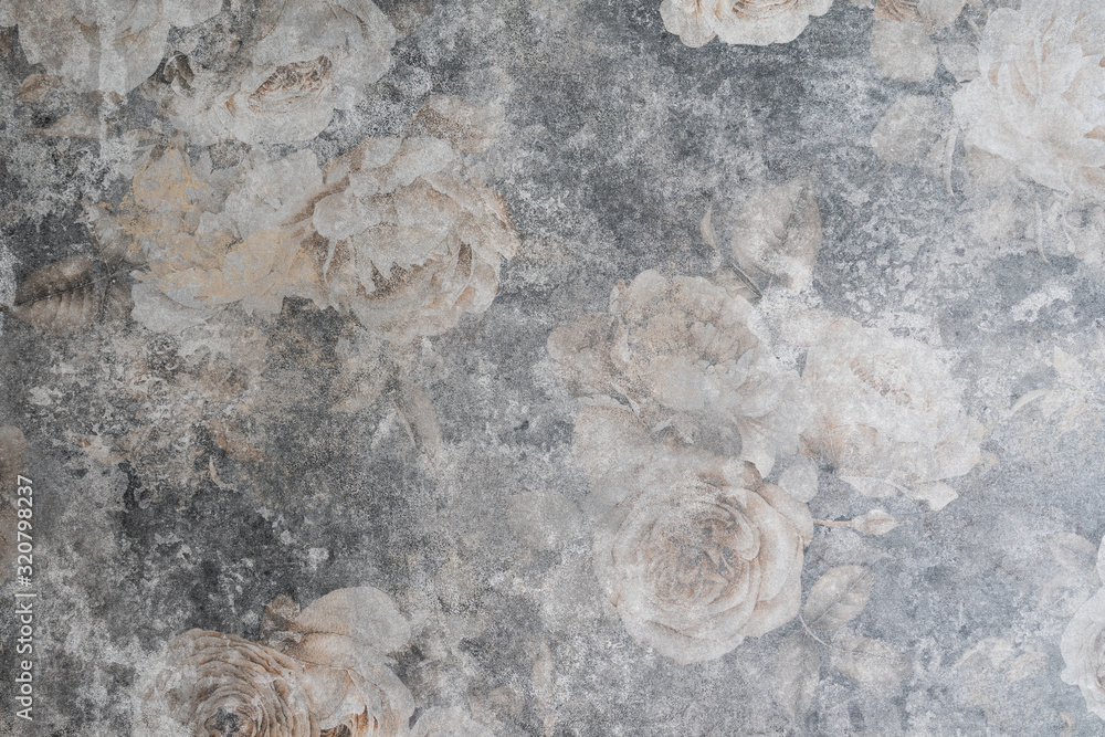 Fototapeta decorative vintage background grunge texture with roses