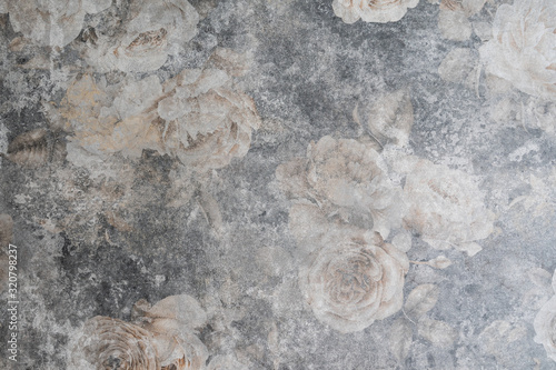 Obraz decorative vintage background grunge texture with roses - fototapety do salonu