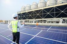 Engineer Check Condition Solar...