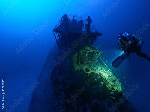 Fotografie, Obraz Epave Sous marin U455 CCR Gênes, Italy