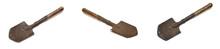 Old Sapper Shovel On White Natural Background