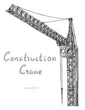 Tower Construction Crane. Hand...