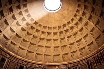 The dome of the Pantheon in Rome, in Piazza della Rotonda