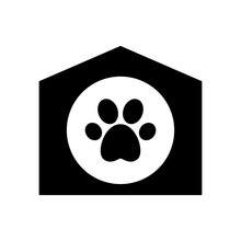 Cutout Silhouette Pet House Wi...