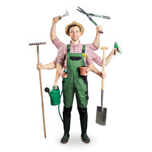 Gardener With Multiple Arms An...
