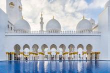 Sheikh Zayed Grand Mosque In The City Of Abu Dhabi, Emirate Of Abu Dhabi, United Arab Emirates, UAE