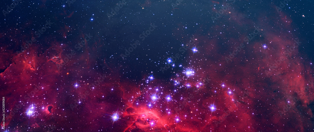 creative surreal science abstract galaxy sky with many stars, color dust elements of this image furnished by nasa