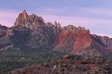 Summer Landscape At Sunrise Of Eagle Crags Near Zion National Park, Utah, USA
