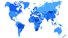 High Detail World Map.All Elem...