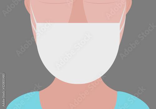 Canvastavla Profesional de la salud con mascarilla blanca.