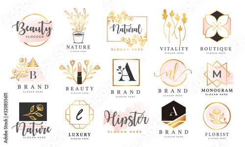 Feminine logo collections template premium vector Wallpaper Mural