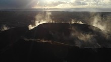 Fissure Eight To Steam Vents With Lens Flare Aerial In Leilani Estates
