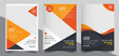 Brochure design, cover modern layout, annual report, poster, flyer in A4