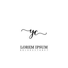 YC Initial Handwriting Template Design
