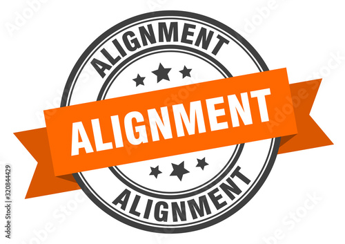 alignment label. alignmentround band sign. alignment stamp Canvas Print