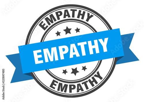 Fotografia empathy label. empathyround band sign. empathy stamp