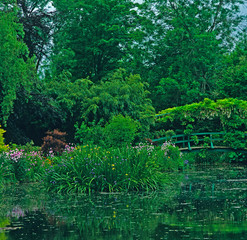 Fototapeta Do sypialni The Lilypond with the Japanese Bridge at Claude Monet's garden