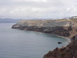 Views of the caldera, mountains, the Mediterranean Sea, and the city of Fira from the Akrotiri Lighthouse.