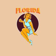Florida Orange Pin Up Girls Il...
