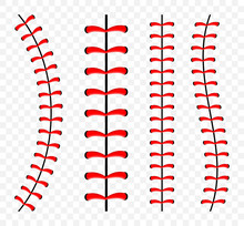 Baseball Ball Stitches, Red La...