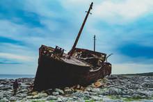 Ship Wreck On Irish Island