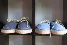Shoes Stand On A Shoe Shelf