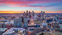 Denver, Colorado, USA Drone Aerial Skyline