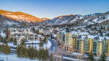 Vail, Colorado, USA Drone Vill...