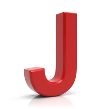 Letter J Isolated On White Bac...
