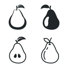 Pear And Apple Icon Template C...