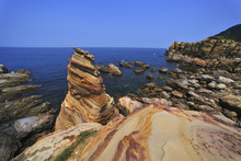 Scenic Shot Of NanYa Rock Formations Ruifang District City