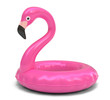 Pink flamingo isolated on white background 3d rendering
