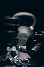 Black Kettlebell  With Purple ...