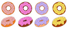 Colorful Donut Set With Sweet ...