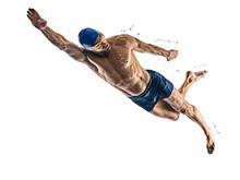 Man Sport Swimmer Swimming Iso...