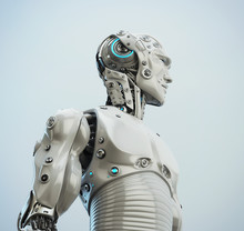 Smart Handsome Robot Male, 3d Rendering