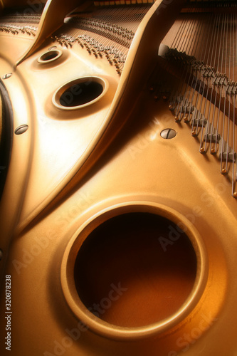 Photo Golden Grand Piano