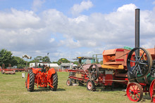 Vintage Tractor And Thresher