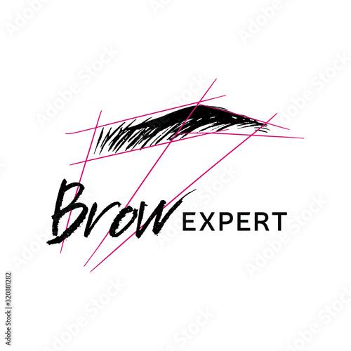 Slika na platnu Logo for Eyebrow Expert